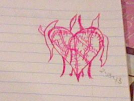 Throny bladed heart by JazmineVanity