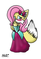 fluttershy the fox :new: by X-RedFox-X