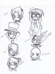 School Doodle-SUP Chibis-some- by Shinji-Leaf