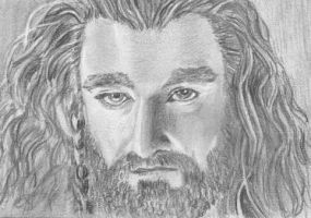 aceo, art trading card Thorin Oakenshield  Hobbit by BethannNg