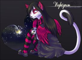 nightgown in a heart by finalfang