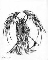 The Angel of Death by osculating-faerie