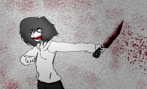 Jeff the killer in your TV by LovE-CatSxD