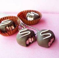 Strawberry Truffle Necklace by AsianBunni