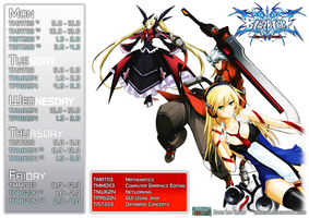 Blazblue timetable by zadelim
