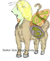 Butter-lion dragon-pony by shaharw