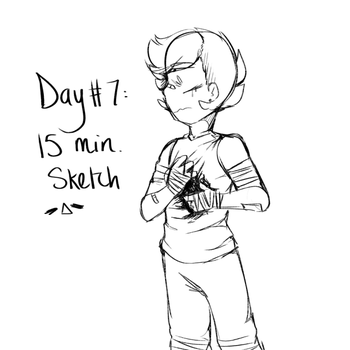 Day #7: 15 Minute Sketch by Rainbowbells
