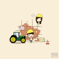 LOVE Construction by kusodesign