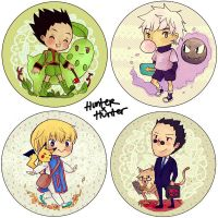 HxH buttons for AFA 2011 by overflag