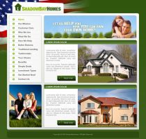 Shadow Bay Homes web page by djnick2k