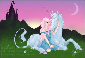 The Girl and the Unicorn by Ramala