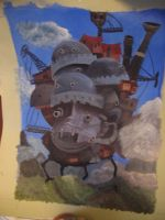 Howles moving Castle by snoboarderEm