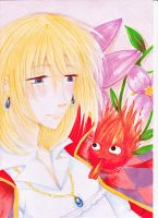 Howl and Calcifer by Chiichanny