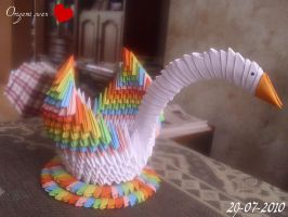 My origami swan by dirkbenedict28