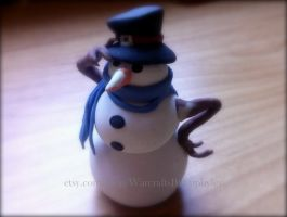 Tiny Snowman Pet inspired by World of Warcraft by Euphyley