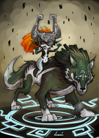 Midna and Link by Luminanza