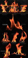 Isolated Fire by GrDezign