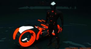 RINZLER AND LIGHTCYCLE by archangel72367