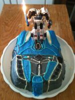 my Optimus Prime cake with a Drift candle by ailgara