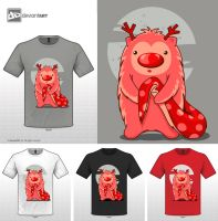 Cute monster t-shirt_04 by gokceguneren