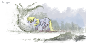 Derpy Hooves - The Long Walk by caycowa