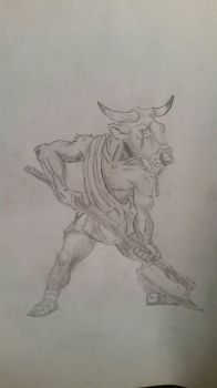 Versalies the Minotaur by ConfettiSuicide
