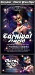 Carnival n Mardi Gras Party Flyer Template by Hotpindesigns