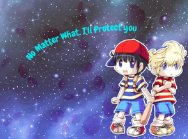 Earthbound Ness and Lucas Background by CookieDerpHannah