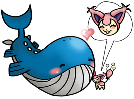 I 39 ll protect you by ludiculouspegasus on deviantart - Wailord pokemon x ...