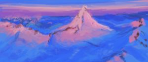 Speed Painting Mountain by Eliket
