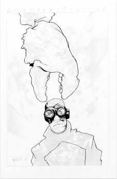 Lobster Johnson WIP - Black - Egli - Inks by SurfTiki