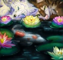 Collab - Water Lillies fini by Quoosa