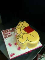 Winnie the Pooh Cutout Cake by Spudnuts