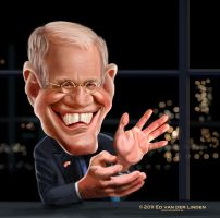 David Letterman by edvanderlinden