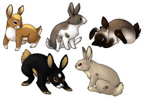 Commission: Rabbits by fuzzball288