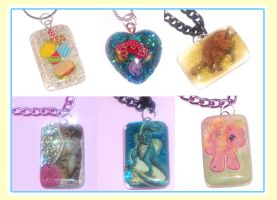 Resin Pendant Necklaces by bapity88