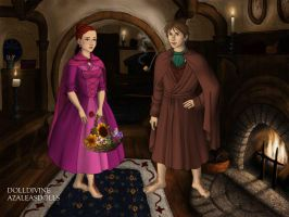 GMD: Basil And Victoria As Hobbits by MouseAvenger