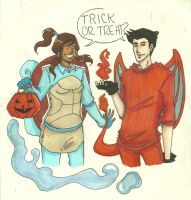 Halloween Makorra by LilyScribbles