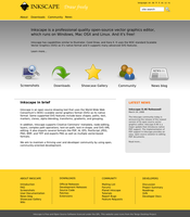 Inkscape Site devel. - front by duckgoesoink