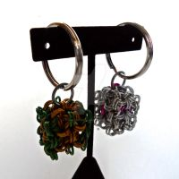 Customizable Chainmaille Cube Keychain by Rosie-Periannath
