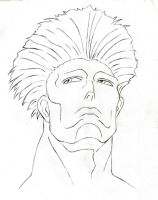 Guile Face Sketch 3 by HPL-The-Outsider