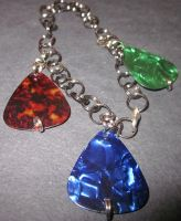 Guitar Pick Charm Bracelet by undeadxsiren