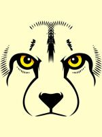 Cheetah face Vector WIP by Rustyoldtown