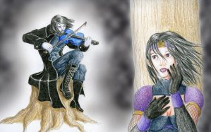 The Silent Violinist by eurynomos