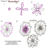 How to draw Paisley Flower 21 Brandon by Quaddles-Roost