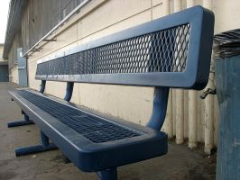 empty bench by herheartthrobs