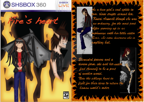 Fire's heart game cover by ShadowsDemons
