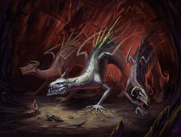 Underground dragons by nocturnus-orca