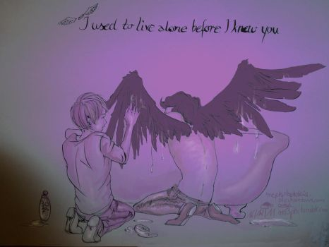 I Used To Live Alone Before I Knew You by mephistophelesia