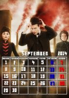 Doctor Who Calendar 2014 (September) by truska93